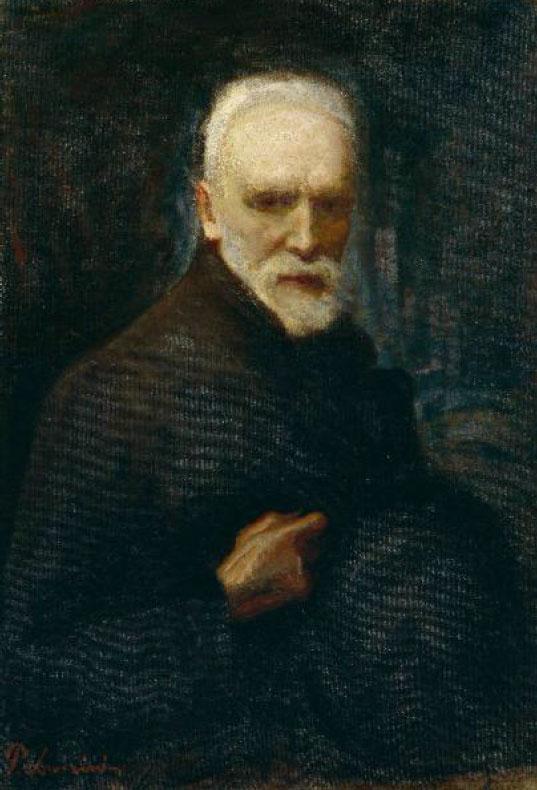Autoritratto di Ponziano Loverini ottantenne (Accademia Carrara Bergamo)