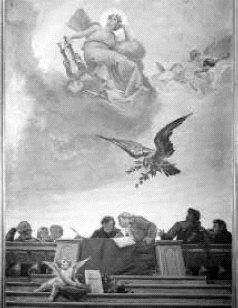 Allegoria della musica drammatica, affresco, 1895 - Palazzo del Municipio di Breno (Bs), Sala consiliare