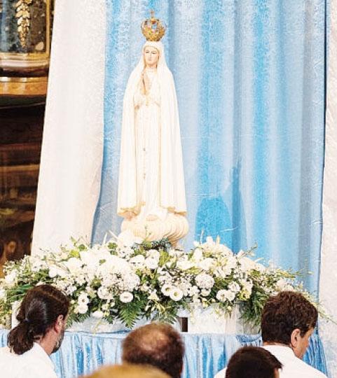 La statua della Madonna pellegrina di Fatima da oggi sarà a Barzizza