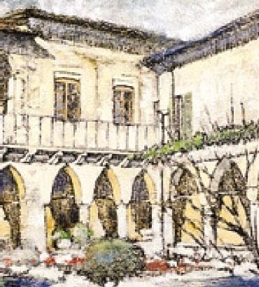F. Radici, «Chiostro dell'antico convento francescano», 1994