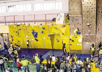 Arrampicata sportiva indoor domenica a Gandino