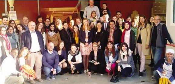 I ricercatori europei dei cereali durante la visita in Val Gandino