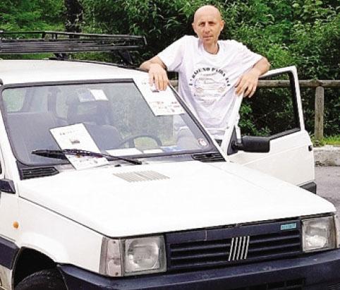 Ivan Moretti, morto nel 2015, ideatore del raduno Panda 4x4