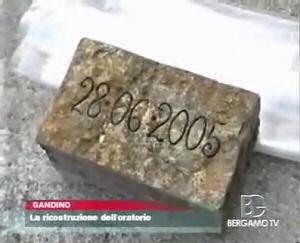 Posa della prima pietra dell'Oratorio di Gandino