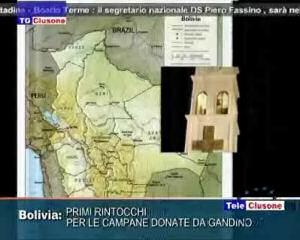 Primi rintocchi delle campane donate da Gandino alla Bolivia