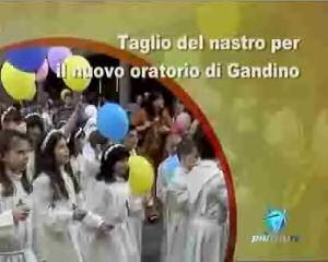 Taglio del nastro per il nuovo oratorio di Gandino