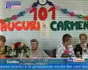 Festeggiati i 101 anni di Carmen Carminati