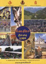 """La copertina del pieghevole """"Gandino Estate 2004"""""""