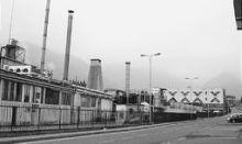 Lo stabilimento di Gandino, sede principale della Radici Tessuti (foto Fronzi)