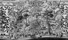 Arazzo del '500 custodito nel Museo della Basilica di Gandino