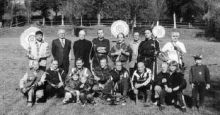 Un gruppo della Compagnia arcieri Valgandino