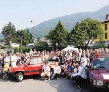 Il folto gruppo dei partecipanti al raduno Panda 4x4