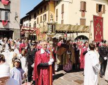 La solenne processione del Corpus Domini a Gandino