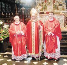 Don Emilio Majer, monsignor Angelo Gelmi e monsignor Paolo Rudelli