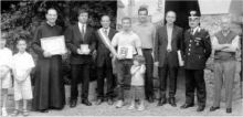 Il gruppo dei premiati con il sindaco Maccari