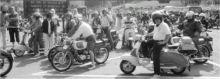 Le motociclette durante la sfilata (foto Fronzi)