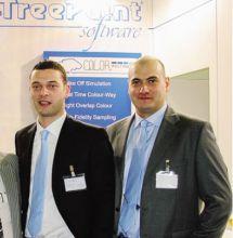 I soci di TreePaint: da sinistra, Stefano Dell'Angelo e Luca Piatti