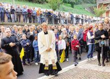 Don Alessandro Angioletti accolto dalla comunità di Ponte Nossa
