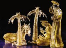 Archimede Seguso, presepio in vetro di Murano e oro zecchino (Museo dei Presepi Gandino)
