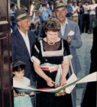 Il sindaco Elena Pasini nel 1987