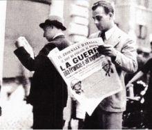 La notizia della dichiarazione dell'entrata in guerra dell'Italia