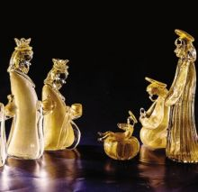 Archimede Seguso, presepe in vetro di Murano e oro zecchino. Un capolavoro conservato presso il Museo dei Presepi di Gandino
